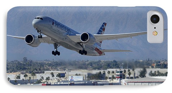 American American Airlines First Boeing 787-823 N800an Taking Off Phoenix Sky Harbor March 7 2015  IPhone Case