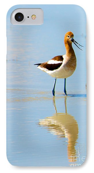 IPhone Case featuring the photograph American Avocet by Vinnie Oakes