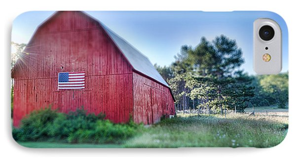 IPhone Case featuring the photograph American Barn by Sebastian Musial