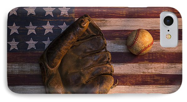 American Baseball IPhone Case by Garry Gay