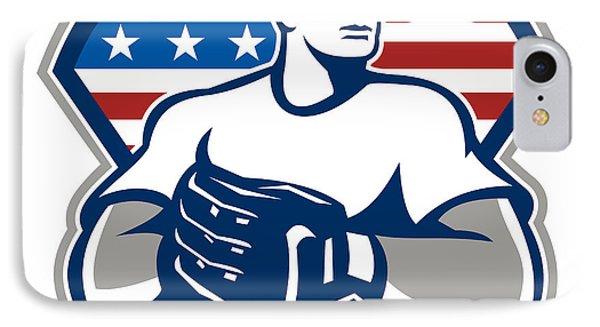 American Baseball Pitcher Gloves Retro Phone Case by Aloysius Patrimonio