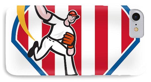 American Baseball Pitcher Star Phone Case by Aloysius Patrimonio