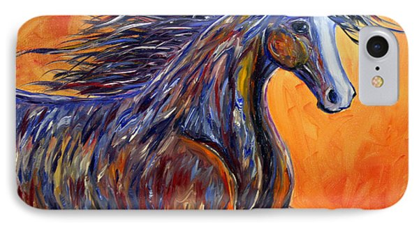 IPhone Case featuring the painting American Beauty Abstract Horse Painting by Jennifer Godshalk