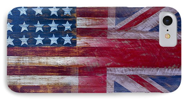 American British Flag 2 IPhone Case by Garry Gay