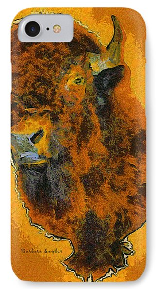 American Buffalo Phone Case by Barbara Snyder