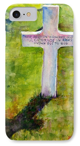 American Cemetery Normandy IPhone Case by John D Benson
