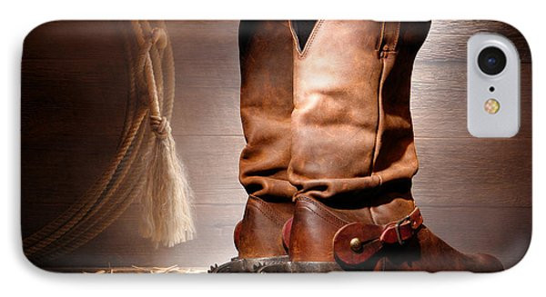 American Cowboy Boots Phone Case by Olivier Le Queinec