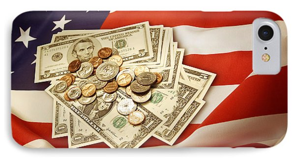 American Currency  IPhone Case by Les Cunliffe