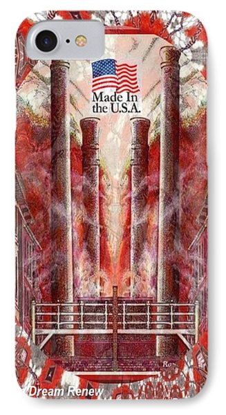 American Dream Renew IPhone Case by Ray Tapajna