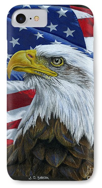American Eagle Phone Case by Sarah Batalka