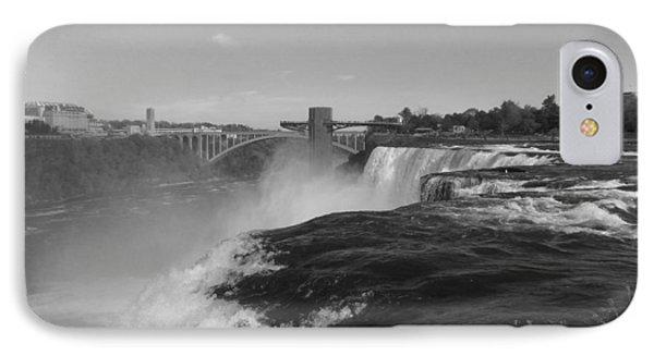 American Falls From Luna Island B N W IPhone Case