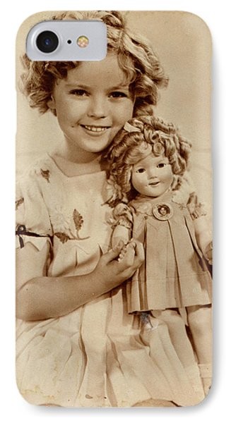 Shirley Temple iPhone 7 Case - American Film Actress Shirley  Temple by Mary Evans Picture Library
