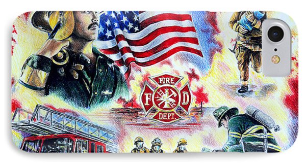 American Firefighters Phone Case by Andrew Read