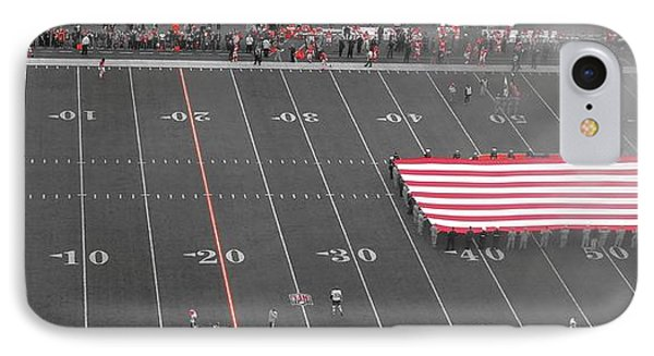 American Flag At Paul Brown Stadium IPhone Case by Dan Sproul