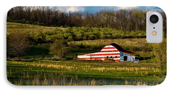 American Flag Barn Phone Case by Amy Cicconi
