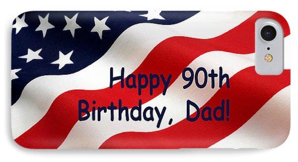 American Flag Birthday Salute IPhone Case