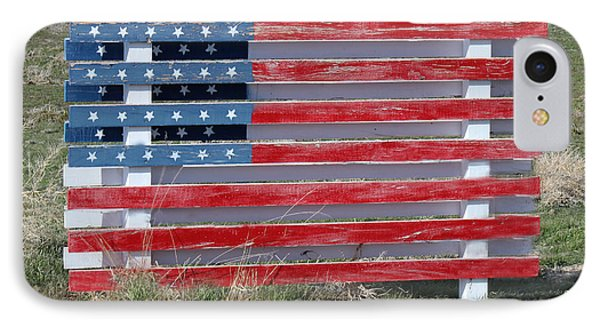 American Flag Country Style IPhone Case by Sylvia Thornton