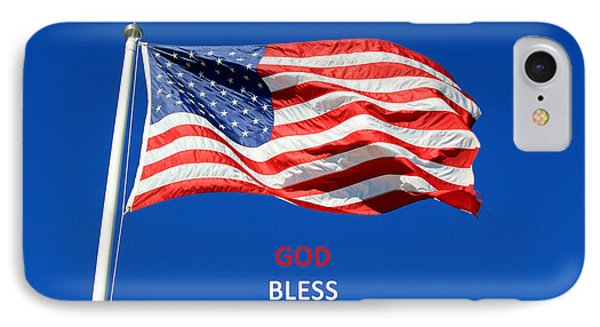 IPhone Case featuring the photograph American Flag - God Bless America by Barbara West