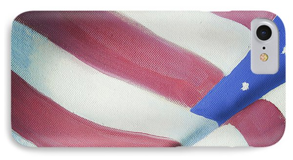 American Flag Grungy Vintage Oil Painting Phone Case by Christina Rahm