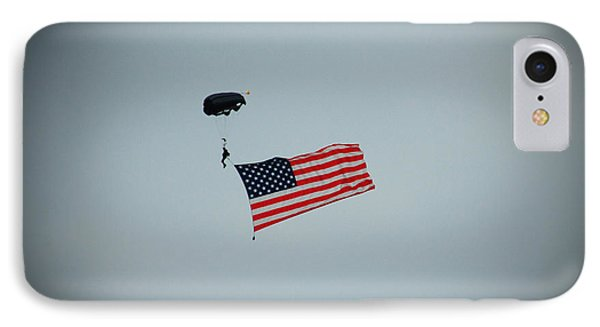 American Flag In The Sky Phone Case by Aimee L Maher Photography and Art Visit ALMGallerydotcom