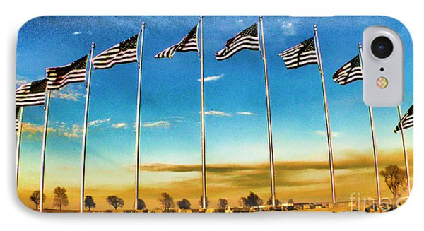 American Flag - Independence Day Phone Case by Luther Fine Art