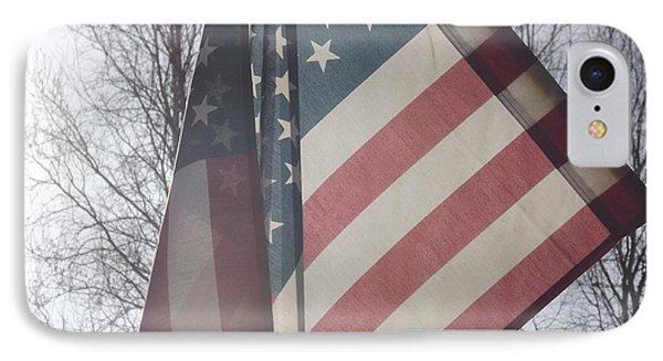 American Flag Phone Case by Jennifer Kimberly