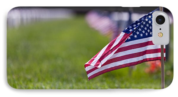 IPhone Case featuring the photograph American Flag by Jerry Gammon