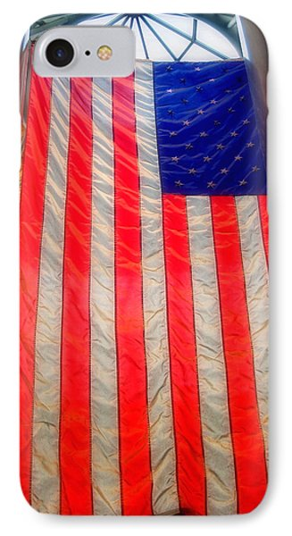 American Flag IPhone Case by Joann Vitali