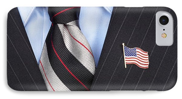 American Flag Lapel Pin IPhone Case