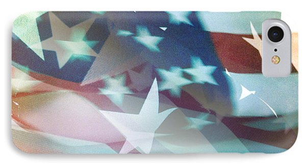 American Flag Phone Case by Les Cunliffe