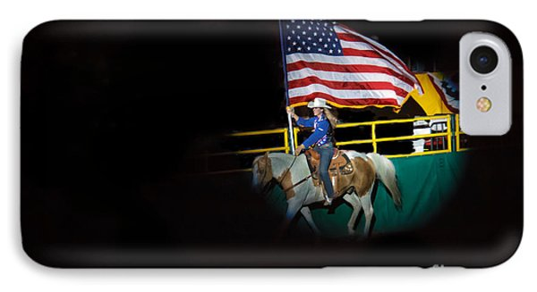 American Flag On Display IPhone Case by Robert Bales