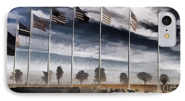 American Flag Still Standing Phone Case by Luther   Fine Art