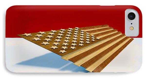 American Flag Wood IPhone Case