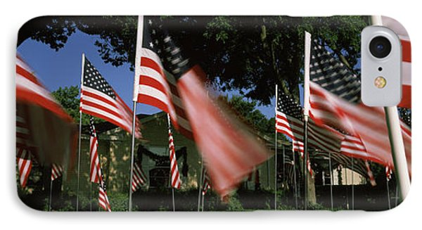 American Flags In Front Of A Home IPhone Case
