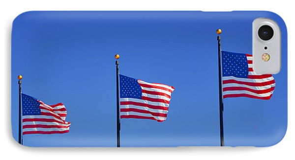 American Flags - Navy Pier Chicago IPhone Case by Christine Till