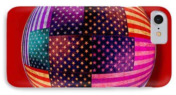 American Flags Orb Phone Case by Tony Rubino