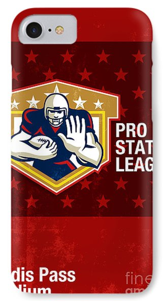 American Football Pro State League Poster Art Phone Case by Aloysius Patrimonio