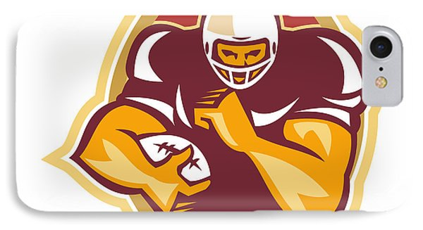 American Football Running Back Star Ball Phone Case by Aloysius Patrimonio