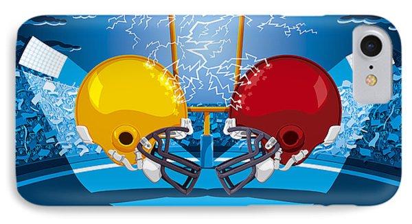 American Football Stadium Helmet Lightning IPhone Case