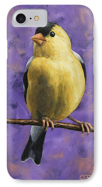 Finch iPhone 7 Case - American Goldfinch by Crista Forest