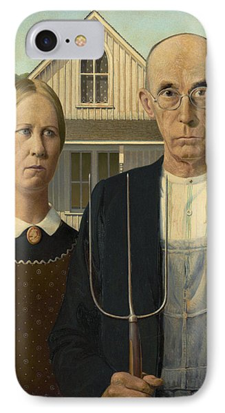 American Gothic IPhone Case by Grant Wood