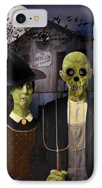American Gothic Halloween IPhone Case by Gravityx9  Designs