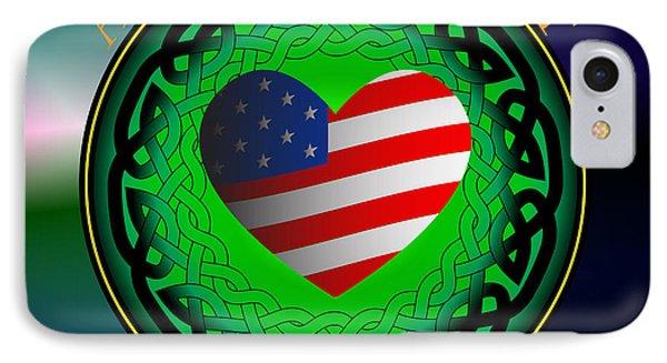 American Heart Irish Blood IPhone Case by Ireland Calling