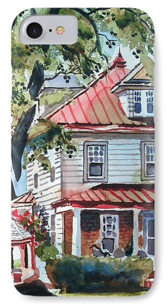 American Home With Children's Gazebo IPhone Case