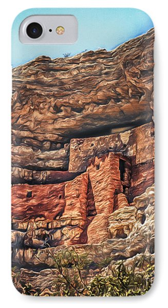 American Indian Cliff Dwelling  ... IPhone Case by Chuck Caramella