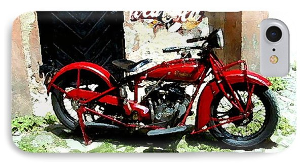 American Indian   Indian Motorcycle  IPhone Case by Iconic Images Art Gallery David Pucciarelli