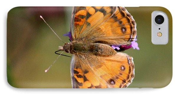 American Lady Butterfly Phone Case by Karen Adams