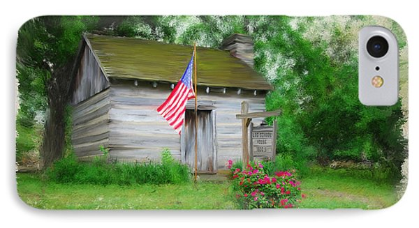 American Log Cabin IPhone Case by Mary Timman