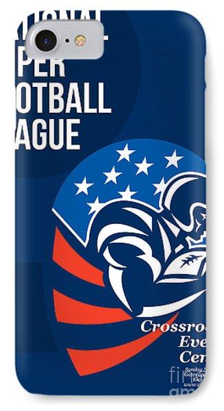 American National Super Football League Poster  Phone Case by Aloysius Patrimonio