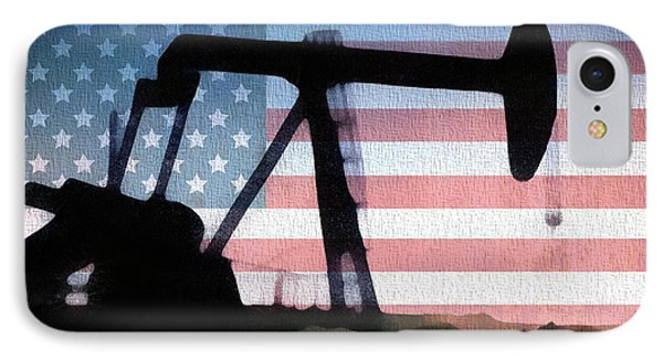 American Oil Rig IPhone Case by Dan Sproul